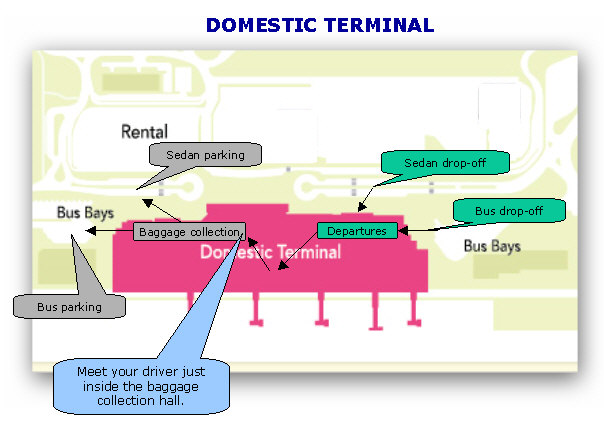 Domestic terminal meeting point
